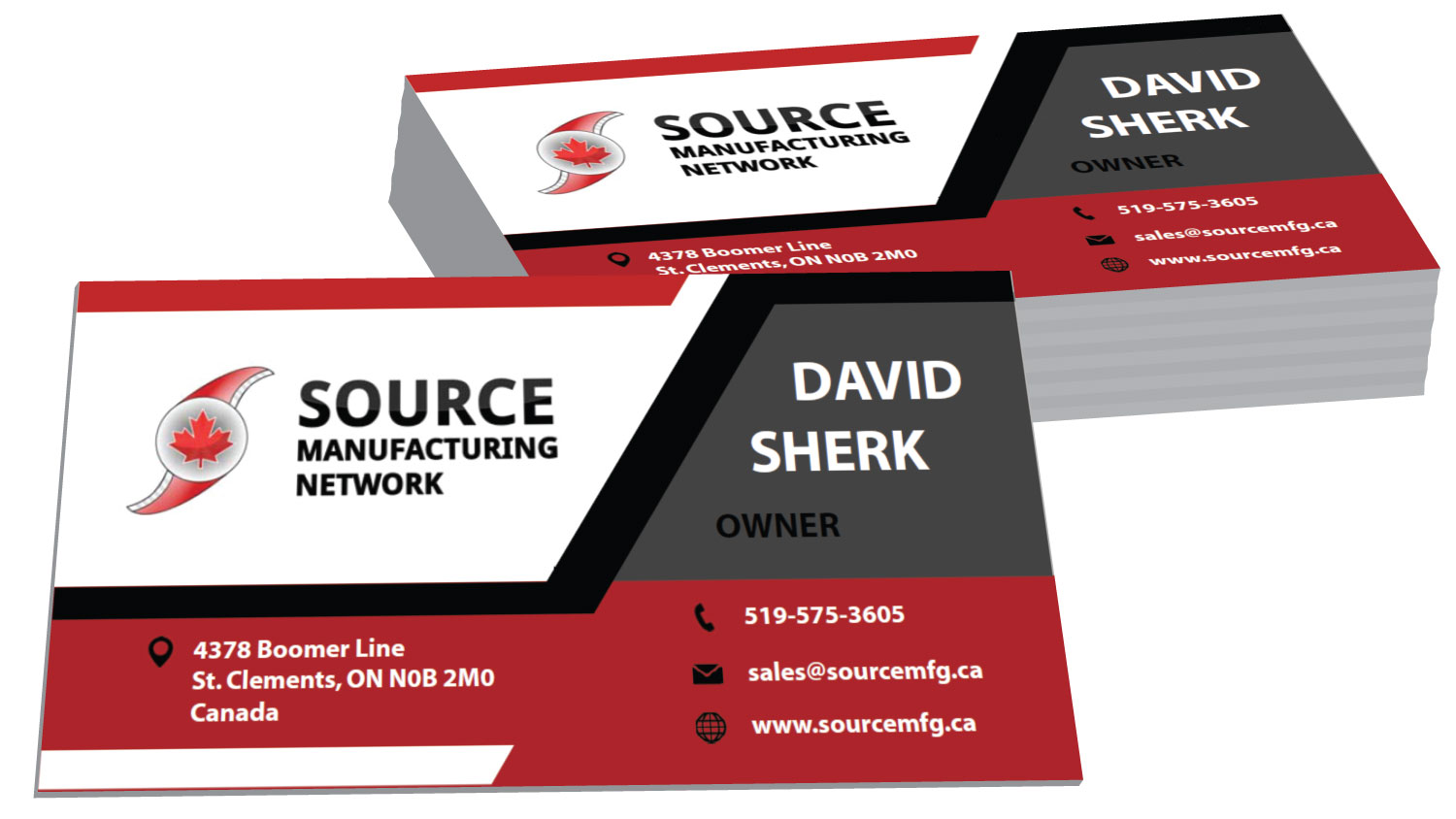 source manufacturing network business cards cryodragon inc
