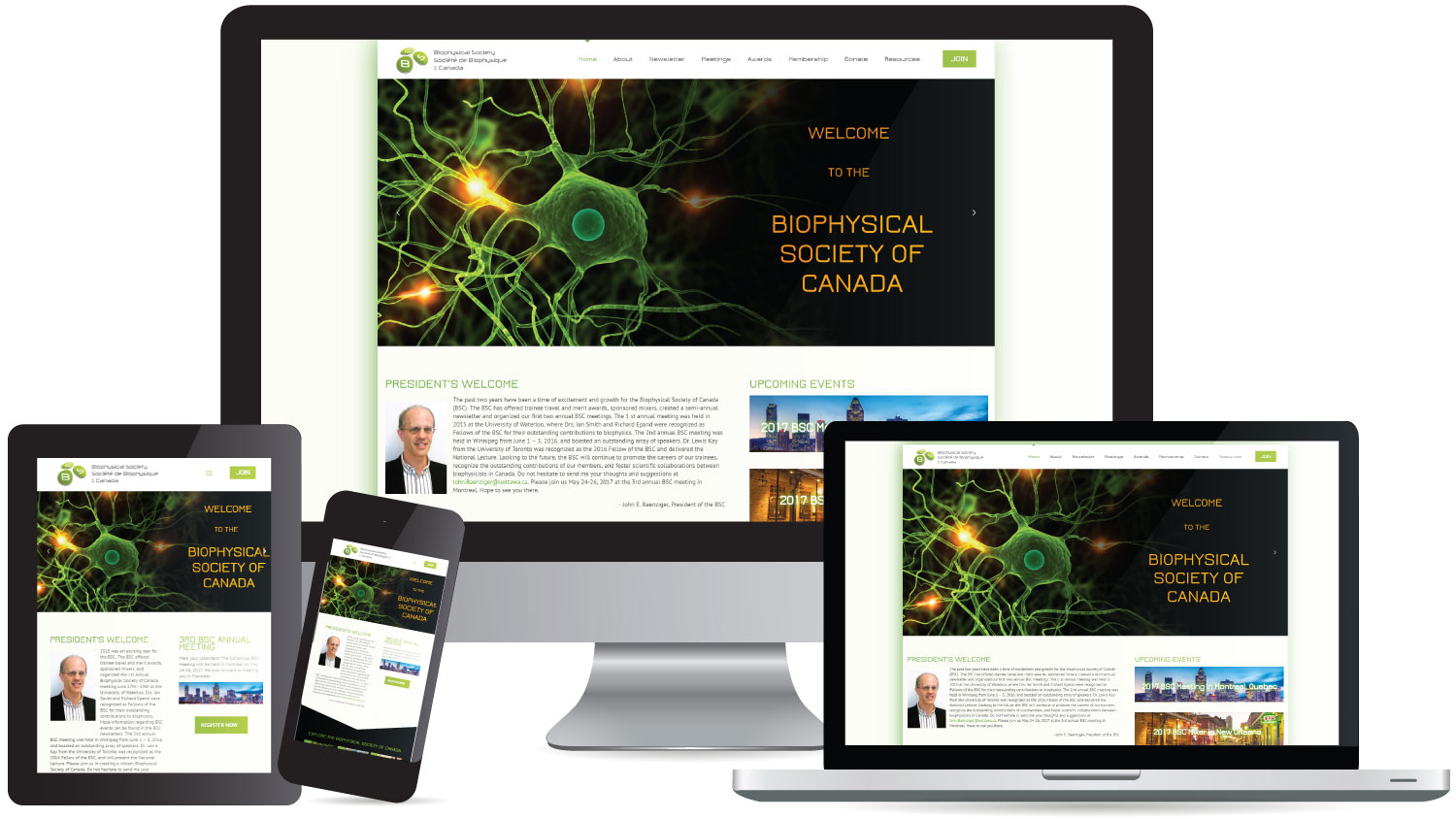 New Website for Biophysical Society of Canada | Web Design ...